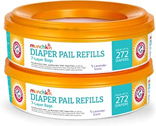 Munchkin Arm & Hammer Diaper Pail Refill Rings, 7 Layers Bag, Pack of 2