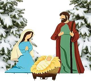Fun Express Nativity Scene Yard Decor for Christmas (3 Piece Set)