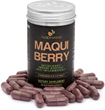 Maqui Berry, 60 Capsules | 500mg Each, Antioxidant (High ORAC), Anti-Aging, Immune Booster, Helps with Dry Eyes (Tear Support and Tear Production), Standardized Extract (10% Anthocyanins)
