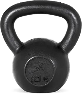 Prosource Fit Solid Cast Iron Kettlebells Weights for Full Body Workout