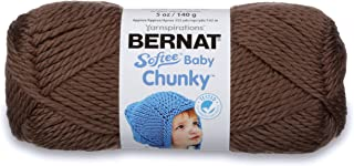 Bernat Softee Baby Chunky Yarn, Solid, 5 oz, Gauge 5 Bulky Chunky, Teddy Brown