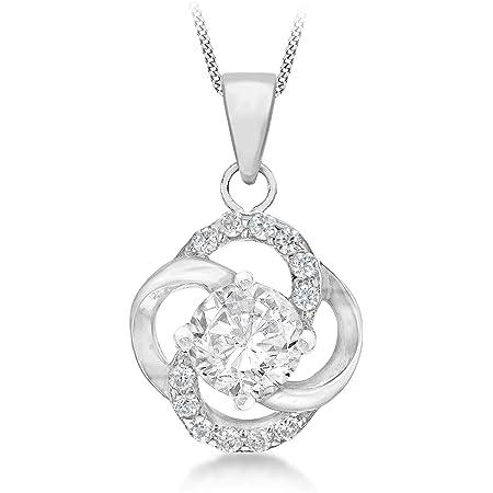 Tuscany Silver Collar con Colgante Mujer Plata Plata Fina 925 circonita Redonda - 8.46.3560