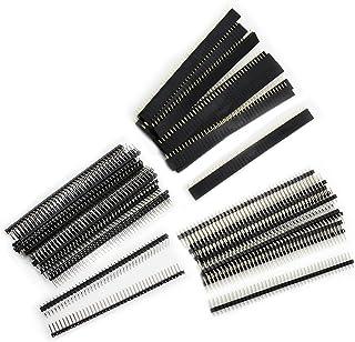 Aussel 60 Stück Weg PCB Board 40Pin männlich weiblich und rechtwinklig Header Connector (PIN 3 60PCS)