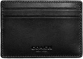 Coach Mens Money Clip Card Case in sport calf leather F75459 Black [並行輸入品]