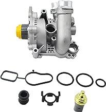 Aluminum Water Pump + Sensor for Audi A4 TT VW GTI Jetta Passat Tiguan 2.0T