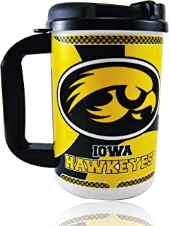 Whirley University of Iowa Hawkeyes Thermo Insulated Travel Mug 20oz | for Hot or Cold Drinks | for Coffee, Tea, Beer & More | BPA Free