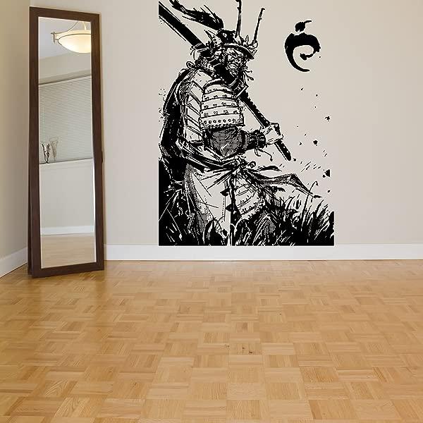 Wall Room Decor Art Vinyl Sticker Mural Decal Ninja Samurai Warrior Large AS1465