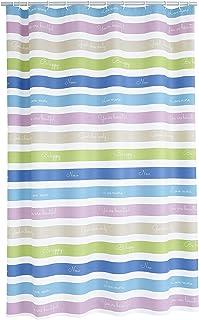 RIDDER Shower Curtain, 100% PEVA, Multi-Coloured, approx. 180x200 cm