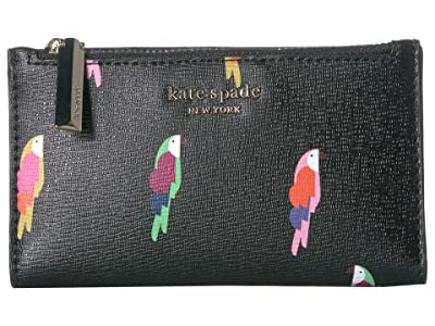 Kate Spade New York Small Slim Bifold Wallet (Black Multi) Wallet Handbags