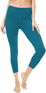 "QUEENIEKE Women 22"" Yoga Capris Running Pants Workout Leggings"