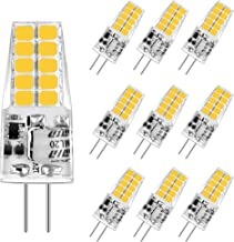 Aourow LED G4-Gloeilamp 3,5 W,Warm Wit 3000K G4 LED 350LM Vervanging voor Halogeenlampen 20W / 35W,12 V AC/DC LED G4-Pins ...