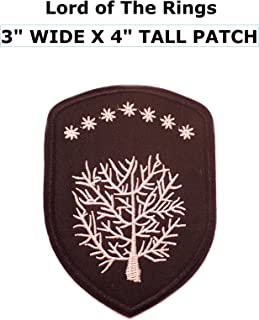 Application Lord of The Rings House Gondor Crest Embroidered Sew/Iron-on Patch
