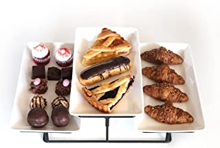 KÎTSHI's 3 Tier Premium Serving Platter Stand - Food Serving Tray Display & Plate Rack - Appetizers, Desserts, Cupcakes, C...
