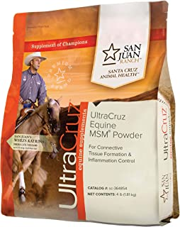 UltraCruz Equine Horse MSM Joint Supplement, 4 lb, Powder (86 Day Supply)