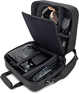 USA Gear Video Projector Case, Large Carry Case for Projectors - Compatible with DBPOWER, ViewSonic, Epson, BenQ, and More - Scratch-Resistant, Shoulder Strap and Customizable Dividers