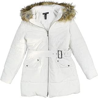 INC International Concepts 女式连帽天鹅绒大衣,带人造毛饰边
