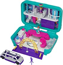 Polly Pocket Hidden Places Dance Par-taay! Case with Dance Theme, Dolls & Accessories