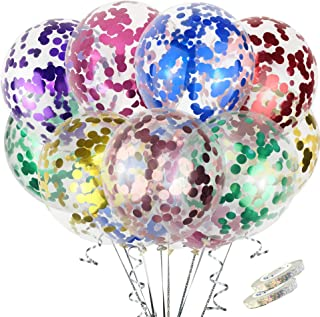40PCS Pack 12 Inch Colorful Confetti Latex Balloons (8 Colors X 5) for Engagement Party Wedding Baby Shower Birthday Party...