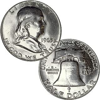 90% Silver Franklin Brilliant Uncirculated Random Half Dollar BU