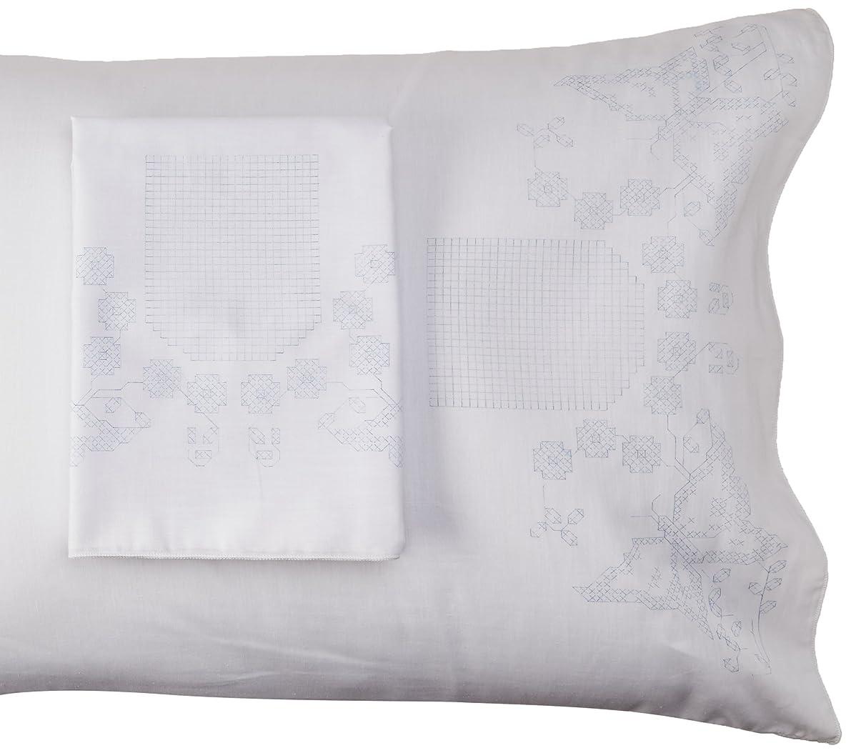 Fairway Monogram Butterflies Stamped Parle Edge Pillowcases (2 Pack), 30