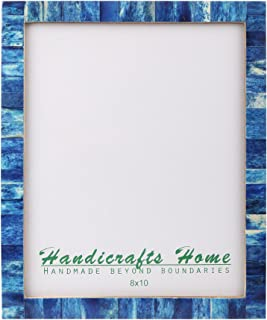 Handicrafts Home Bone Picture Frames Chic Photo Frame Handmade Vintage from 8x10 Inches Blue – Thanksgiving Gifts