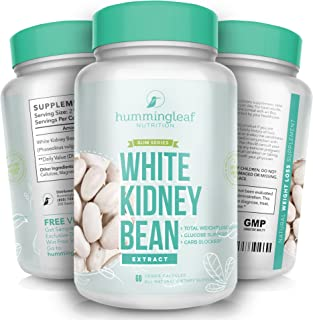 HUMMINGLEAF Pure White Kidney Bean Extract Phase 2 Carb Blocker Intercept Supplement for Weight Loss
