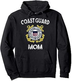 Proud US Coast Guard Mom Military Pride Pullover Hoodie