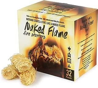 Naked Flame Fire Starters Fireplace, Fast Lighting 32 Pieces, Charcoal Starter, Wood Burning Stove, Indoor Fireplace Starter, Big Green Egg, Campfire Starter, Chimney Starter, Kamado Joe