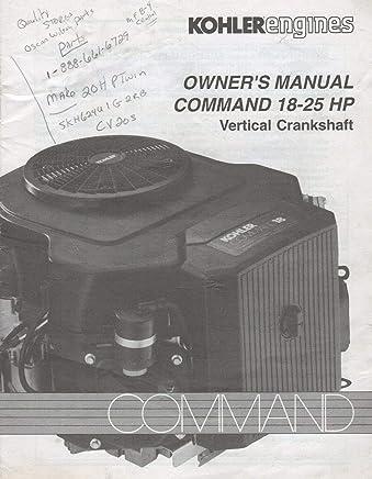 Amazon com: 18 Hp Kohler Engine Manual: Books