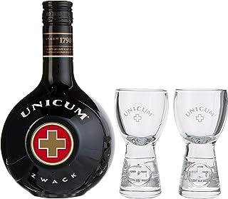 Unicum - Kräuterlikör - 0,7l inkl. 2 Gläser