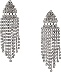 Art Deco Crystal Fringe Earrings