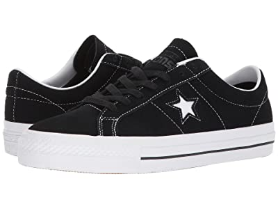 Converse Skate One Star(r) Pro Ox Skate (Black/White/White) Skate Shoes
