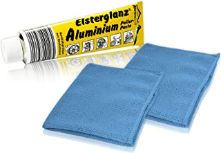 Helmecke & Hoffmann * Elsterglanz Aluminium Polierpaste XXL Tube 150 ml + Zwei Mikrofaser Tücher   Das Original aus Deutschland