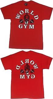 World Gym W100 Bodybuilding Gym Shirt 2-Side Logo Print