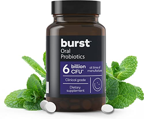 high quality Dental Probiotic for Oral Health, new arrival 6 Billion CFU, by BURST, For Bad Breath popular and Tonsil Stones, Immune System Support, Sinus Support, BLIS K12 & M18 - 45 Count [PACKAGING MAY VARY] outlet sale