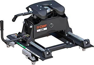 CURT 16669 A20 5th Wheel Slider Hitch for Select Chevrolet, GMC Puck System Black Short Bed Trucks, 20,000 lbs