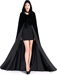 Stylish Halloween Long Black Party Hooded Cloaks