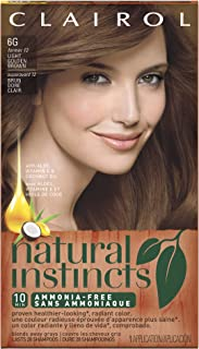 Clairol Natural Instincts, 6G / 12 Toasted Almond Light Golden Brown, Semi-Permanent Hair Color, 1 Kit