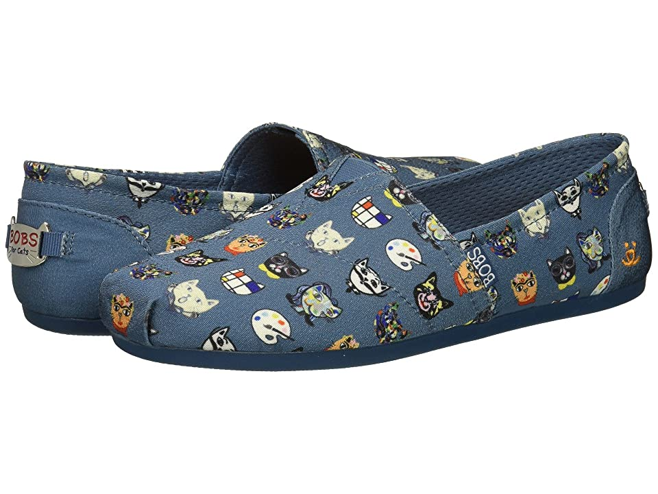 BOBS from SKECHERS BOBS Plush Art History (Blue) Women