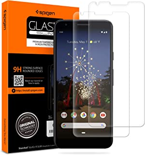 Spigen Google Pixel 3a GLAStR Slim [2 PACK] Premium Tempered Glass Screen Protector - Case Friendly