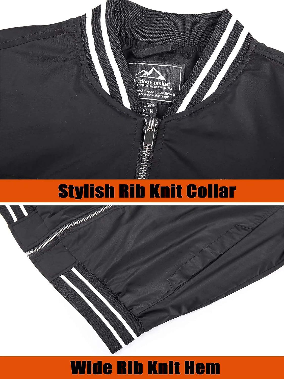 MAGCOMSEN Men's Jacket Lightweight Windbreaker Bomber Jacket Windproof Casual Jacket Outwear at  Men's Clothing store