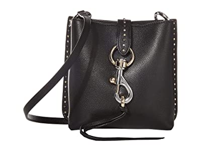 Rebecca Minkoff Megan Mini Feed Bag w/ Studs (Black) Handbags