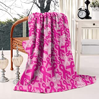 Faith Throw a Blanke with Inspirational Thoughts and Prayers-Breast Cancer Survivor Gifts for Women-Breast Cancer Pink Ribbon