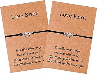 Love Knot Best Friend Sisters Bracelets for 2 3 Friendship BFF Bracelets Women Girls Bridesmaid Gifts