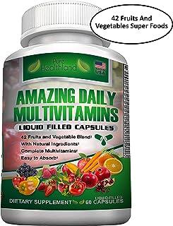 Multivitaminas Para Hombres y Mujeres. Fácil de Absorber. Multivitamínico Natural a Base de Alimentos con una Mezcla de 42 Súper Alimentos a Base de Frutas y Verduras