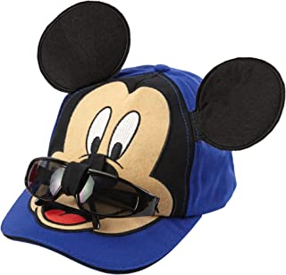 Disney Mickey Mouse Boys Baseball Cap with Removable Sunglasses