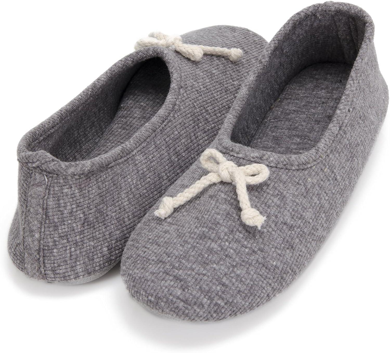 Moxo Women's Memory Foam Bedroom Ballerina House Slippers