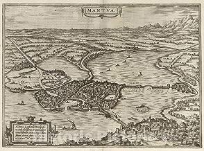 Historic Pictoric Map : Mantua (Italy), Civitates Orbis Terrarum. VOI II (50) Mantua, 1575 Atlas, Antique Vintage Reproduction : 60in x 44in