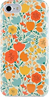 Dimaka iPhone 7 Case iPhone 8 Case,Cute Fall Autumn Flower Design for Girls,Heavy Two-Tier Shockproof with Soft TPU Inside Protective Cases for iPhone 7 and iPhone 8(Retro Painted Flower)