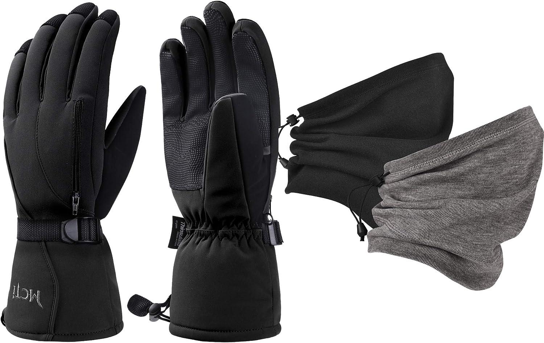 MCTi Waterproof Mens Ski Gloves Fleece Gaiter Ranking TOP12 Bargain Neck Warmer +